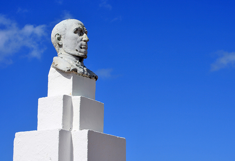 Guadeloupe, Anse-Bertrand, Victor Schoelcher Column. Like a sentinel