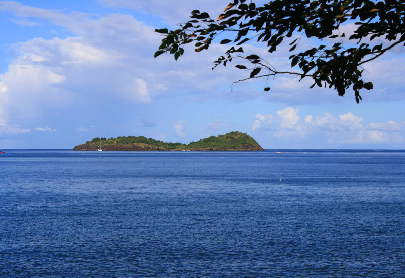Beautiful view over the Pigeon Islet