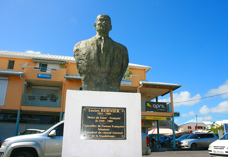 City of Saint-François, Guadeloupe. Bust of Lucien Bernier