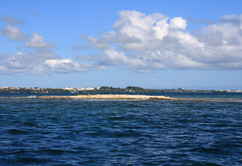 The Saint-Hilaire islet being formed