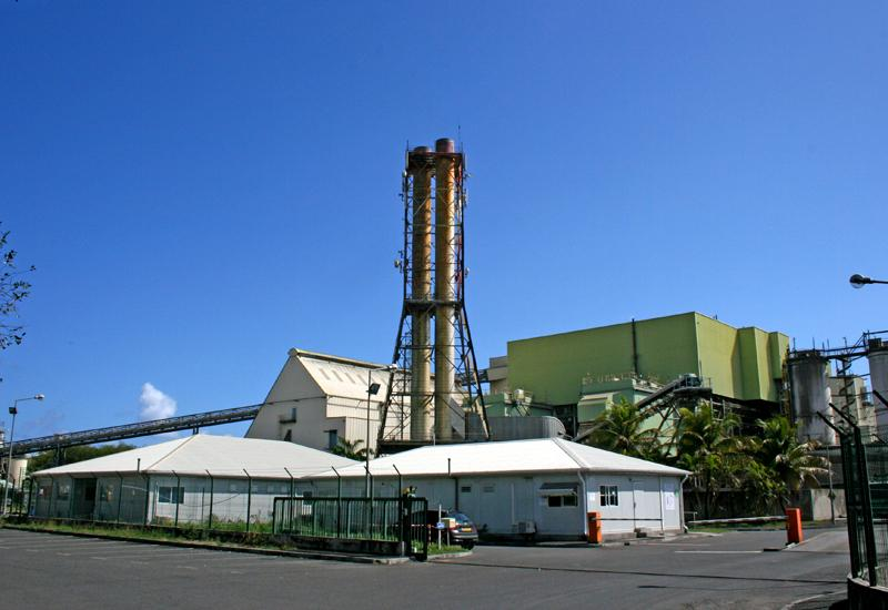 The thermal power station of Le Moule