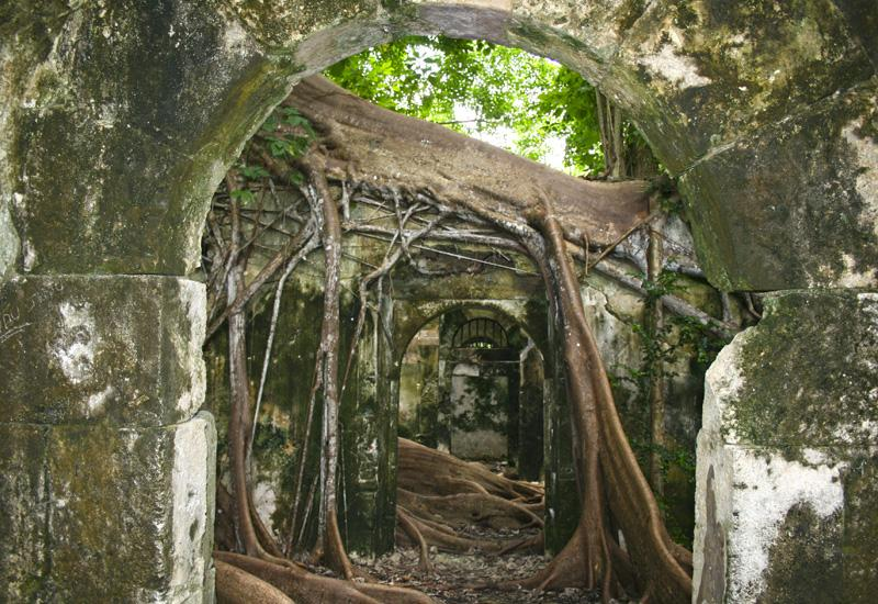 Cells of the old Petit-Canal jail in Guadeloupe