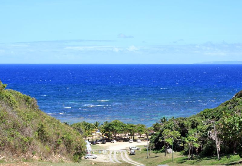 Guadeloupe, Anse Maurice. Beautiful panorama on arrival