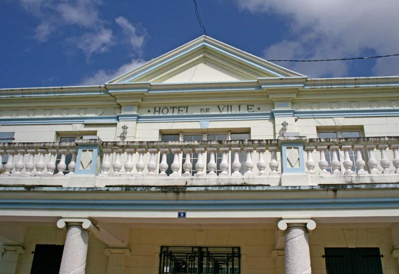 City Hall, Port Louis. Neoclassical style inspired by the forms of the period of antiquity