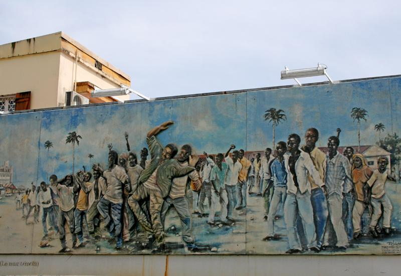 Tribute to the victims of May 1967. Work of Guadeloupean Philippe Laurent