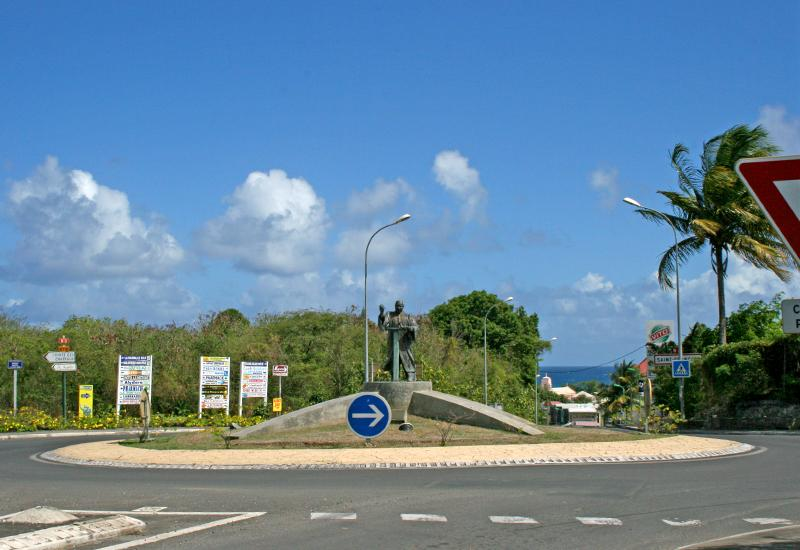 At the roundabout of Morne Pradel and Martin Luther King Avenue