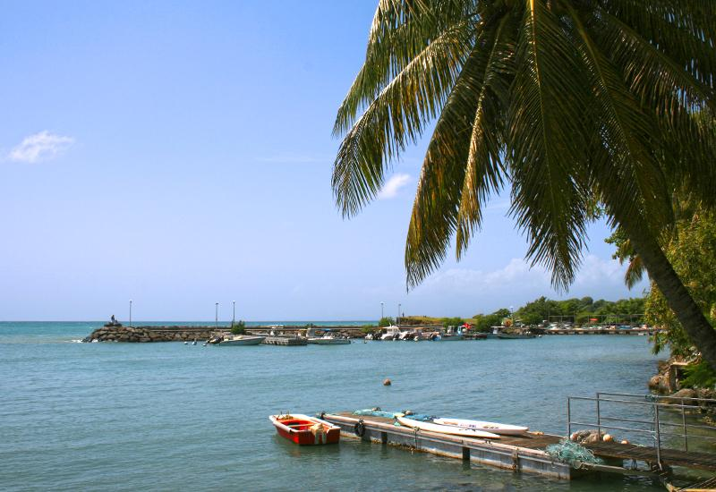 Mooring at Anse Dumont, in the town of Gosier in Guadeloupe