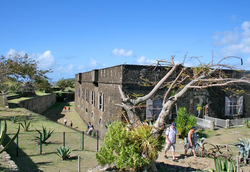 The islands of Saintes, city of Terre de Haut, Fort Napoléon. Barracks housing museum halls
