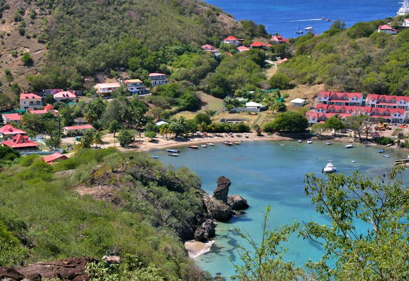 "Marigot Bay - Terre de Haut, Guadeloupe: view from ""Morne Morel"""