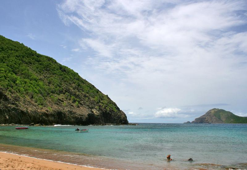 Anse Rodrigue, Terre-de-Haut, Guadeloupe. Beautiful expanse of water