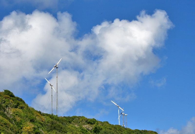 Wind turbines have become familiar in the desiradian landscape