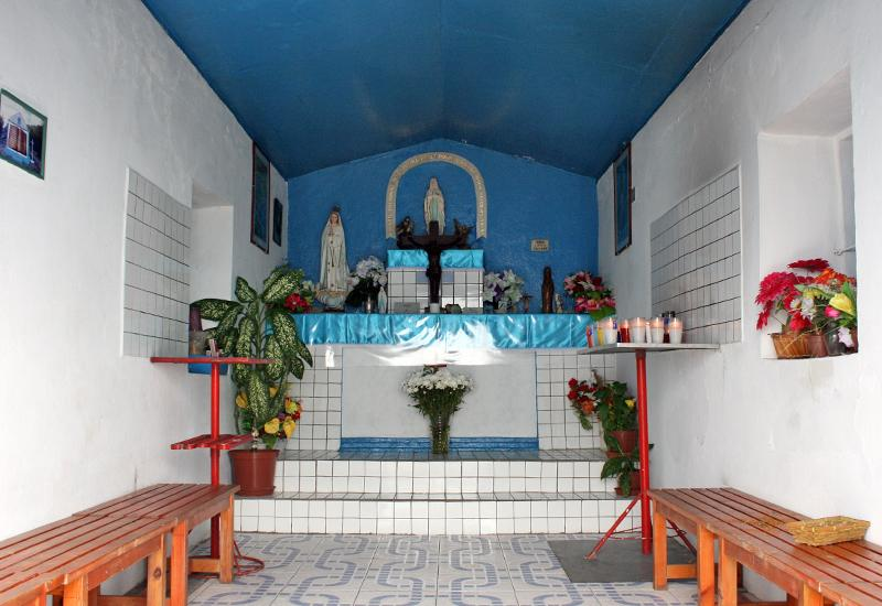 Guadeloupe, island of La Désirade - Chapel Notre-Dame du Calvaire. Place of devotions