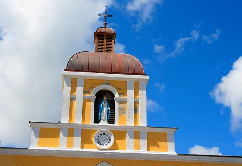 Grand-Bourg, Guadeloupe (French West Indies) The recently restored bell tower