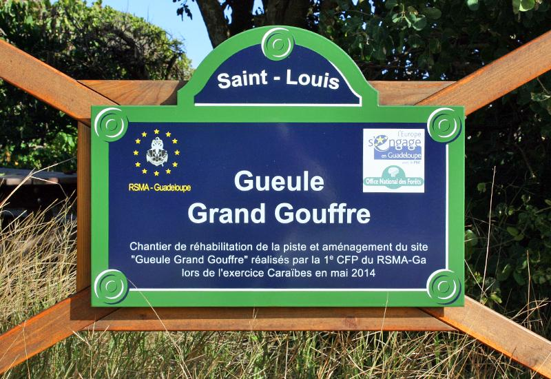 St. Louis, Gueule Grand Gouffre. A secure place