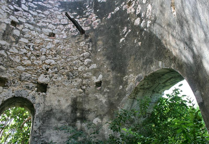 Mayoumbé mill. Ashlar arched openings