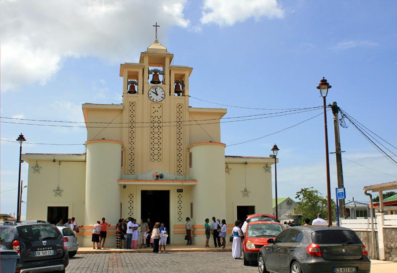 Guadeloupe, Town of Baie-Mahault, Saint-Jean-Baptiste Church: Exit of Ascension Day