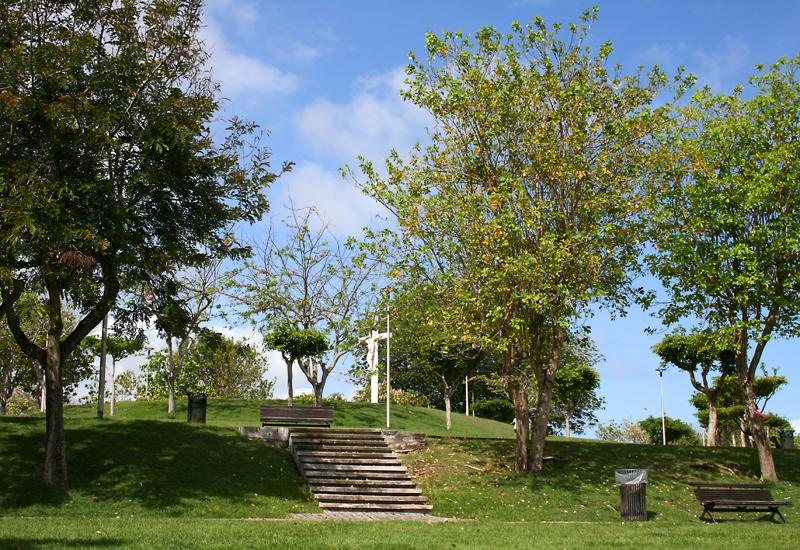 Le Gosier, Calvary landscaped park. A carefully laid out site