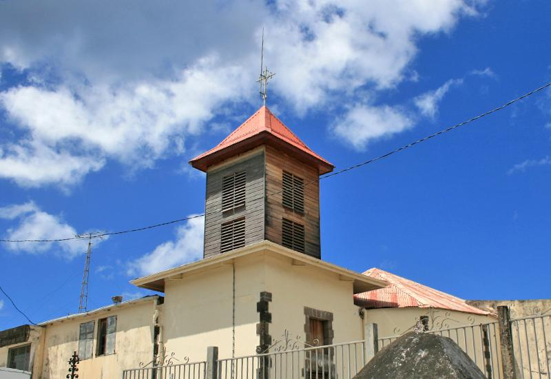 Our Lady of the Assumption Church, Pointe-Noire city: beautiful wooden bell tower