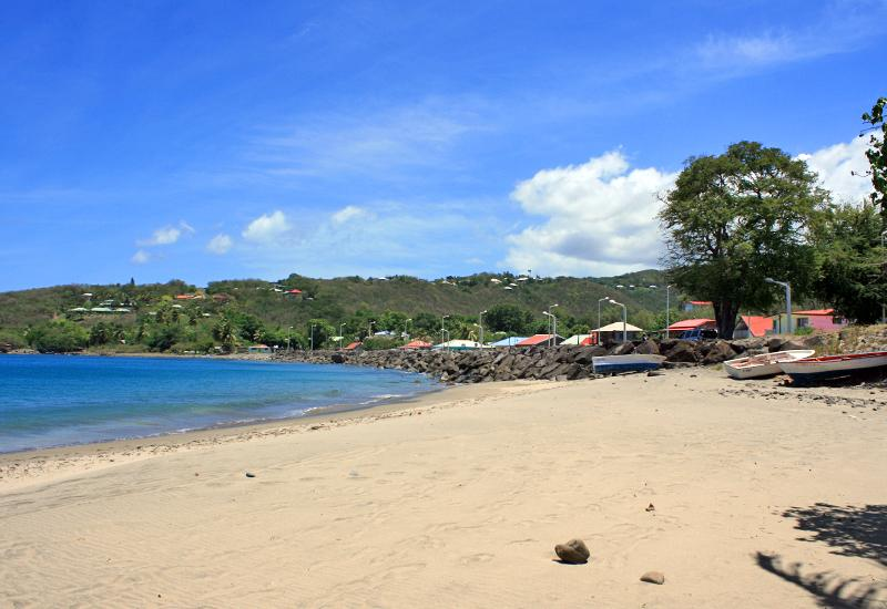 The small beach of Anse Ferry, Deshaies, Guadeloupe