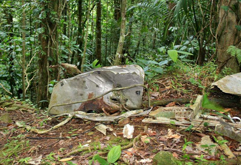 Aircraft debris still lying there