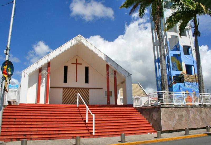 St. Louis Church - Le Gosier, Guadeloupe. Porch