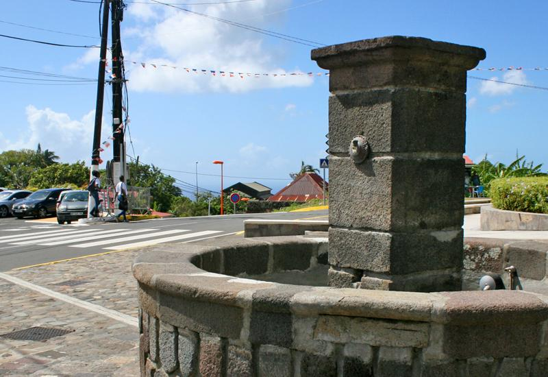 Guadeloupe. The Gourbeyre's fountain, built in stone late nineteenth
