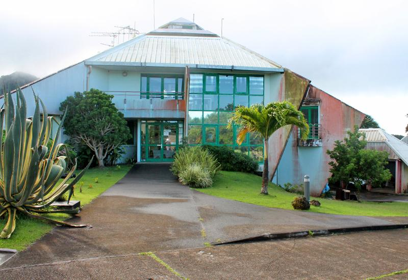 The buildings of the volcanological and seismological observatory