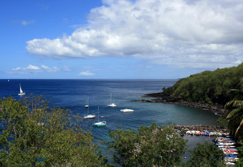 Anse Dupuy - Vieux-Fort city: view from the embroidery center