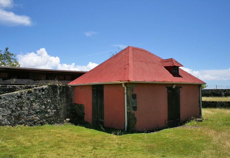 Fort L'Olive - city of Vieux-Fort, Guadeloupe. Old powder deposit
