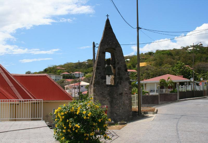 St. Albert Church - Vieux-Fort, Guadeloupe. The old bell tower