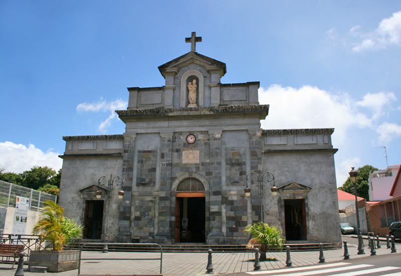 Church of Our Lady of Mount Carmel, Basse-Terre. The neo-classical facade