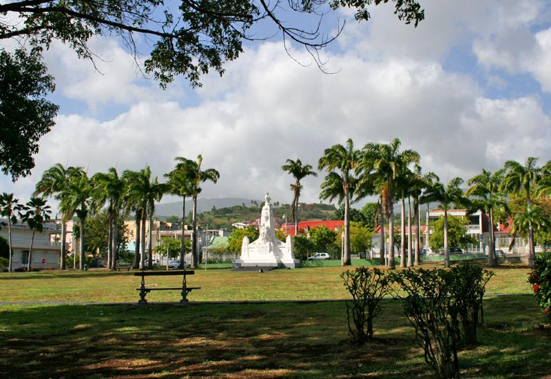Champ d'Arbaud in Basse-Terre, Guadeloupe: a place of ceremonies and commemorations