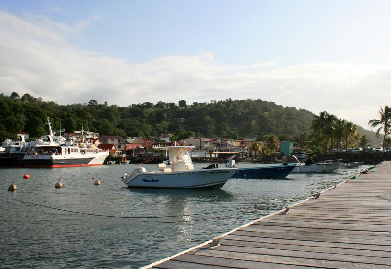 Fishing boats are adjacent to passenger boats