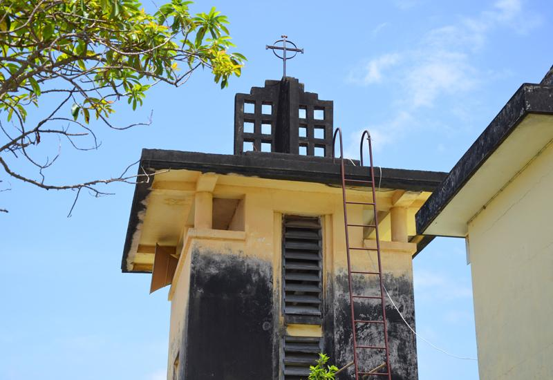 Baillif, Guadeloupe. Church of St. Dominic. Bell tower designed by Ali Tur