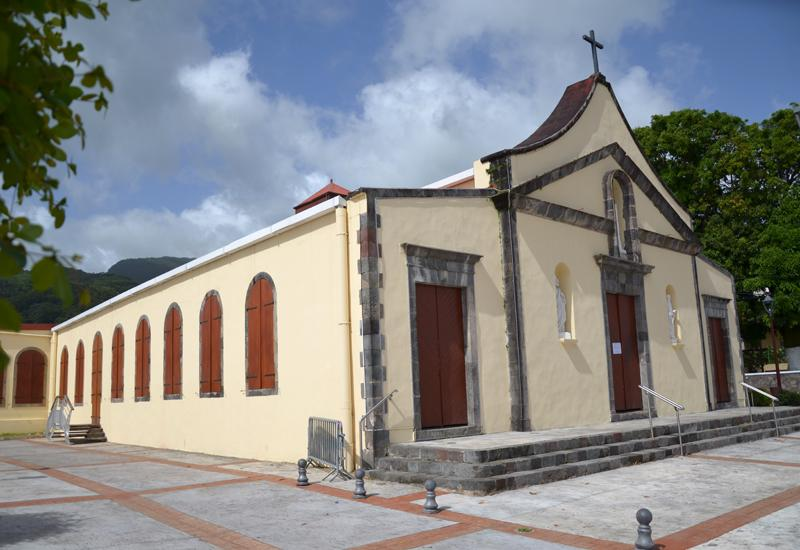St. Augustin Church - St. Claude, Guadeloupe: facade inspired by Latin American buildings.