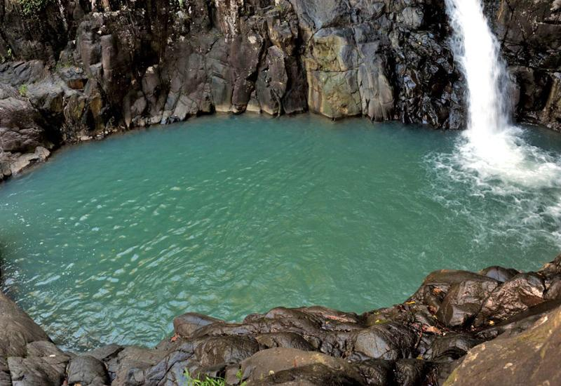 Fall of Acomat - Pointe-Noire, Guadeloupe. Natural pool