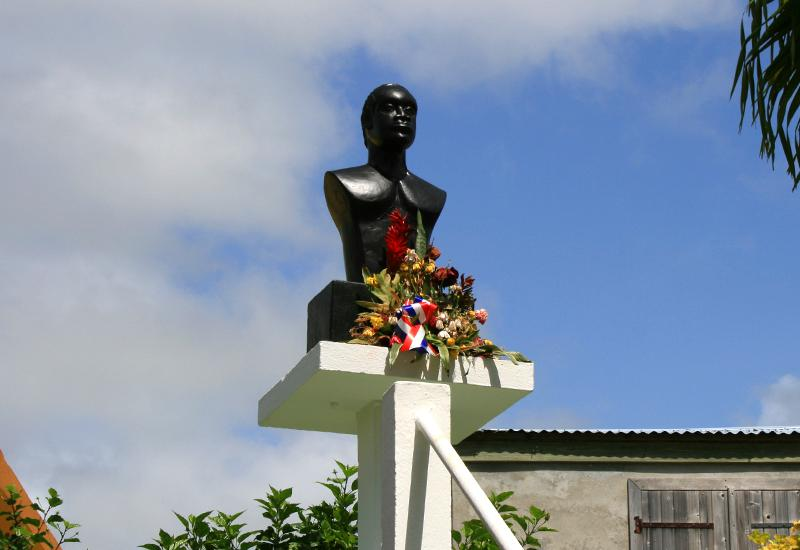 Bust of Jean Louis - Goyave, in Guadeloupe, place of memory