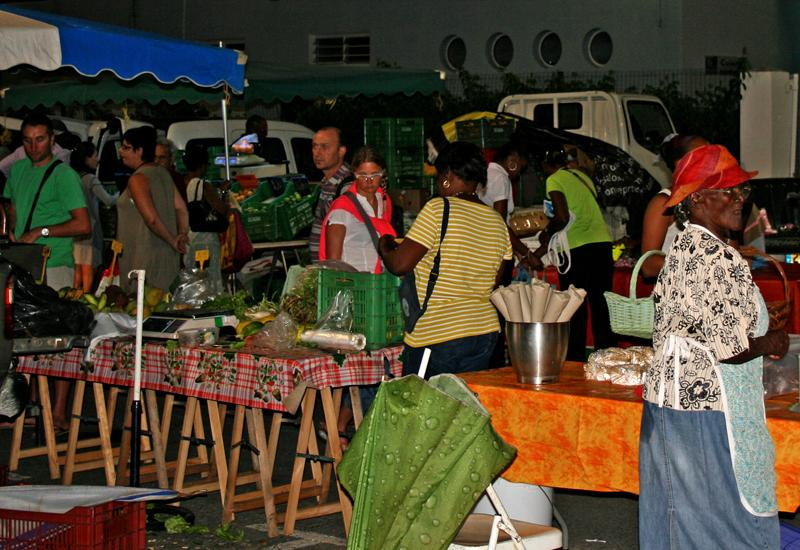 Night Market - Sainte-Anne. Shopping and walking place