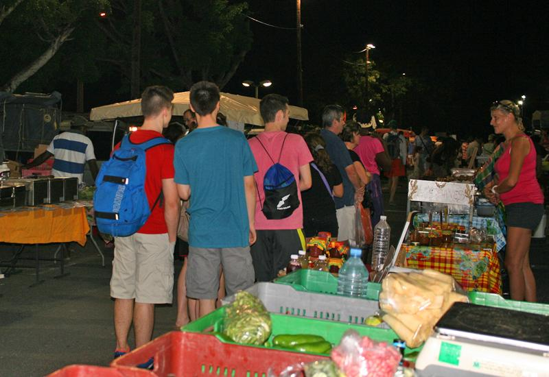 Night market, jams and local juices