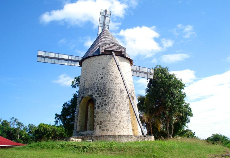 Capesterre de Marie-Galante, Bellevue Distillery, the restored mill