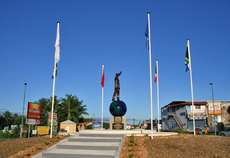 Statue of Nelson Mandela, in Les Abymes, inaugurated on March 10, 2014