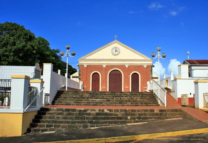 St. Rose of Lima Church, a South American-looking facade