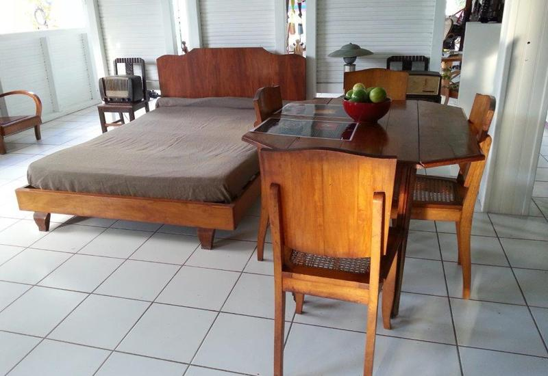 The 1940s - Local Pear Tree Furniture at the Kreol West Indies Museum Space in Saint-François