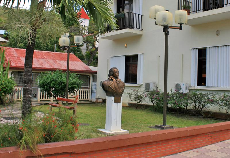 Bust of Delgrès - Deshaies (Guadeloupe). Near the Town Hall