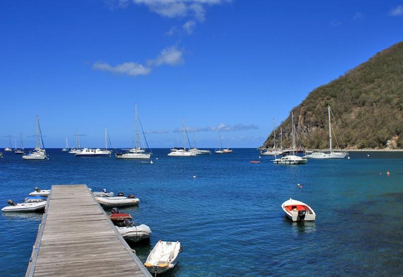 Anse Deshaies, Guadeloupe: exceptional anchorage