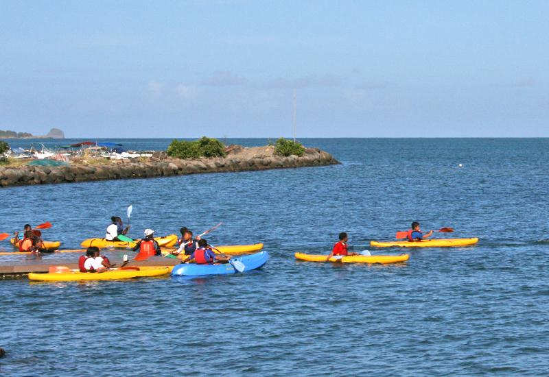 Nautical base - Sainte-Rose. Kayaking with children