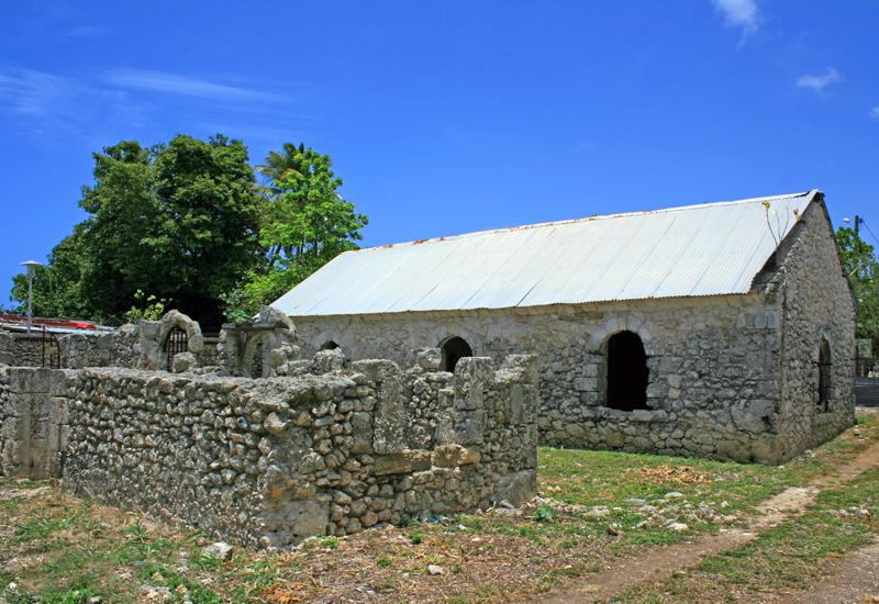 Guadeloupe. Former prison of Anse-Bertrand. One of the two buildings is still well preserved