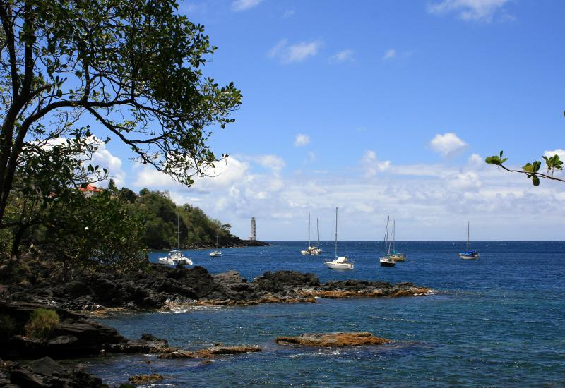Eco tourist area of ​​Trois-Pointes, panorama on the ocean and lighthouse