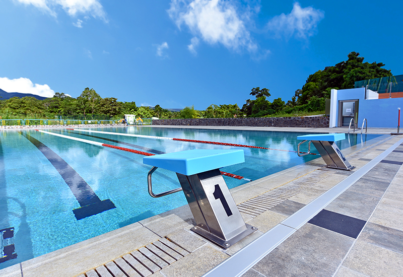 Thermo-Ludic René Toribio center in Lamentin, Guadeloupe. A 25 m sport pool