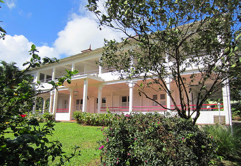 The main house is an authentic Creole house of colonial style